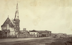 Views of the Town Church, Rangoon